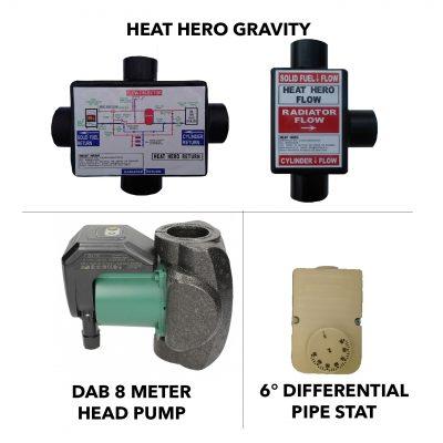 heat hero gravity efficiency booster kit